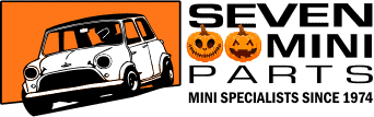 Seven Mini Parts logo with jack-o-lanterns